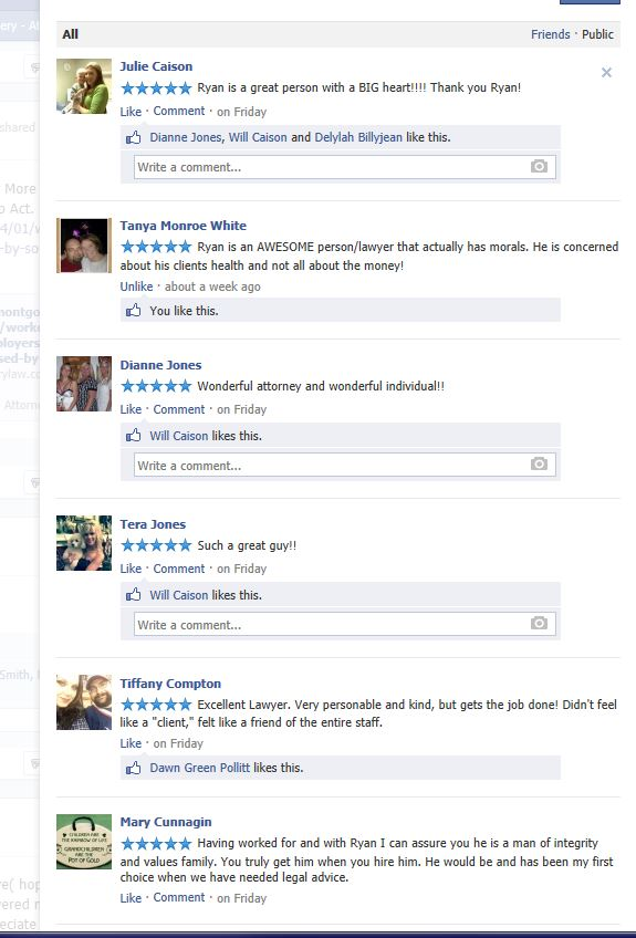 Facebook Reviews - Ryan Montgomery Attorney at Law, LLC