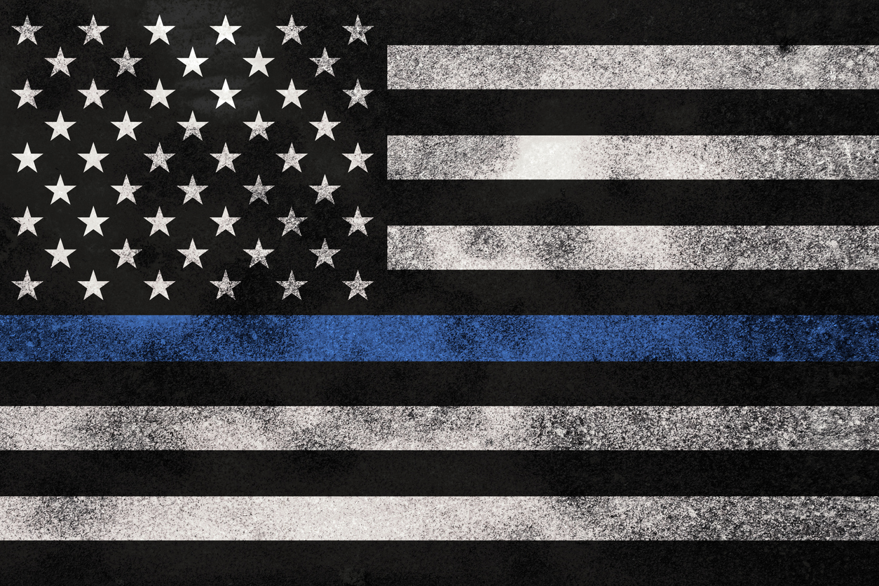 support police officers flag